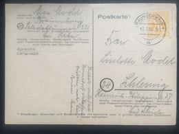 GERMANY 1945 Allied Occupation Postcard Braunschweig To Schleswig - American/British Zone