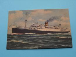 """S/s """" AEOLIA """" ( The HELENIC Mediterranean Lines C° Ltd PIRAEUS ) Anno 19?? ( See / Voir Photo ) G. Schenone ! - Dampfer"""