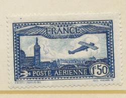 POSTE AERIENNE AVION SURVOLANT MARSEILLE  1 F 50 C Bleu N° 6 Neuf ** - 1927-1959 Nuevos