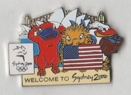 Pin's Jeux Olympiques Welcome To SYDNEY 2000 - USA. - Jeux Olympiques
