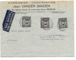SH 0941. N° 384 (3) BRUXELLES 1 -  31.VI.1934 S/Lettre AVION V. Menden (Allemagne). TB - Covers & Documents