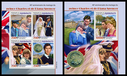 DJIBOUTI 2021 - Prince Charles & Diana Spencer, M/S + S/S. Official Issue [DJB210214] - Dschibuti (1977-...)
