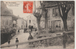 CPA Vitrac (15) RARE  Animation à L'entrée Du Bourg  Moutons Devant L'hôtel Avant 1914  Vigier 133 Série En Auvergne - Other Municipalities