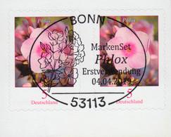 3459 Blume Phlox, Selbstklebend Aus FB 87, Paar Mit EV-O Bonn 4.4.19 - Ohne Zuordnung