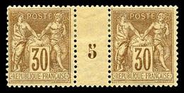 N°80 * 30c Brun-jaune En Paire Millésime '5', TB Cote 370€ - Millesimes