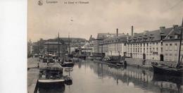 LEUVEN  LOUVIAN Les Le Canal Et L'entrepot  Binnenscheepvaart  Verzonden 1929 Gaaf - Leuven