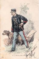 CP Dessinée En Couleurs 6 - DOUANIER éditeur L'H à Paris Adressé à Albert Bontoux Surnuméraire Des Douanes En 1903 - Dogana