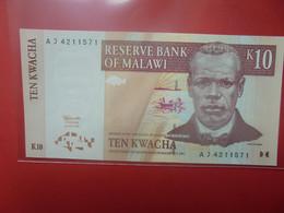 MALAWI 10 KWACHA Peu Circuler/Neuf (B.23) - Malawi