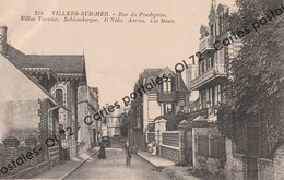 CPA [14] Calvados > Villers Sur Mer - Rue Du Presbytère Villas Varnier Schlomberger Il Nido, Amica Les Roses -animée TBE - Villers Sur Mer