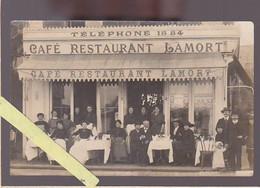 Le Havre / Café Restaurant Lamort, Grand Quai, Carte Photo, De La Terrasse Avec Le Personnel Et La Direction - Other