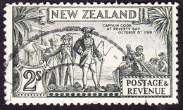 NEW ZEALAND 1941KGVI 2/-Olive-GreenSG589dUsed - Used Stamps