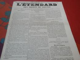 Rare L'Etendard Des Droits Du Peuple N°1 13 Mars 1848 Révolution 1848 Gouvernement Provisoire Etienne Arago - 1800 - 1849
