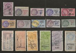 TIMBRES FISCAUX DE MONACO DIMENSIONS , QUITTANCES, Serie Unifiee  TITRES, EFFETS - Revenue Stamps