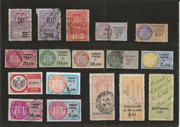 TIMBRES FISCAUX DE MONACO DIMENSIONS , QUITTANCES, Serie Unifiee  TITRES, EFFETS? AFFICHES - Revenue Stamps