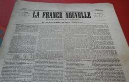 Rare La France Nouvelle 4 Juin 1848  Journal Politique Rédacteur En Chef Alexandre Dumas Thiers Victor Hugo - 1800 - 1849