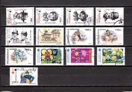 Rumanía   1999  .-  Y&T Nº   4562/4566-4567-4568/4570-4571/4573-4574 - Used Stamps