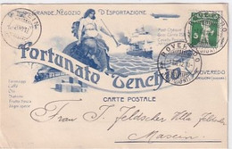 Roveredo GR - Fortunato Tenchio - Cart. Pubblicitaria - Firma Del Proprietario - 1912    (P-326-10110) - GR Grisons
