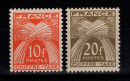 Taxe YV 76 & 77 N* Gerbes Chiffre Taxe Cote 10 Euros - 1859-1955 Nuovi