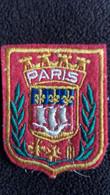 ECUSSON EN TISSU VILLE PARIS  BLASON ARMOIRIES  FORMAT 5 PAR 6.5 CM - Stoffabzeichen