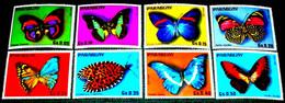 Paraguay,1976, Butterflies. MNH. Michel No. 2794-2801 - Paraguay
