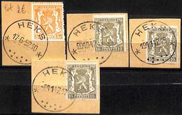 NB - [844117]TB//O/Used-Belgique  - Lot Relais (étoiles) *HEKS*, Lions, Félins - Bolli A Stelle