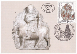 A8412- ERSTTAG, SCULPTURE SAINT MARTIN VON TOURS, REPUBLIK OESTERREICH AUSTRIA 1999 LINZ DONAU USED STAMP ON COVER - Scultura