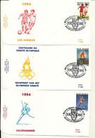BELGIUM  SPORT 1994 OLYMPIC GAMES BUZIN COB 2540/2542 FDC - 1991-00
