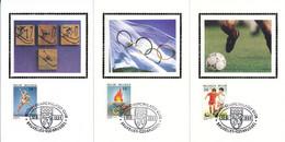 BELGIUM  SPORT 1994 OLYMPIC GAMES BUZIN COB 2540/2542 SILK SOUVENIRS - 1991-00