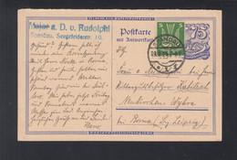 Dt. Reich PK 1924 Hans Von Rudolphi Philatelist IPOSTA Spandau Nach Neukirchen - Storia Postale