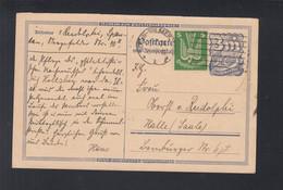 Dt. Reich PK 1924 Hans Von Rudolphi Philatelist IPOSTA Berlin Nach Halle - Covers & Documents