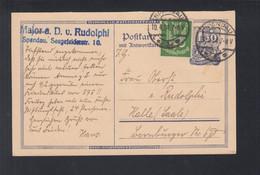 Dt. Reich PK 1924 Hans Von Rudolphi Philatelist IPOSTA Spandau Nach Halle - Storia Postale