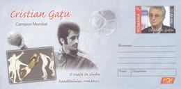 A8455- CRISTIAN GATU - WORLD CAMPION HANDBALL SPORT, ROMANIAN COVER STATIONERY POSTAGE - Entiers Postaux
