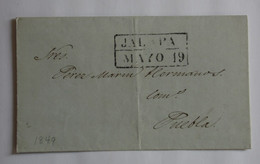 Mexico 1849 – Black Mark JALAPA – PEREZ MARIN Puebla – ROAT Jalapa MEXIQUE 1849 – MARQUE POSTALE NOIRE « JALAPA » - Mexique