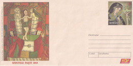 A8457- RESURRECTION OF JESUS, HOLY EASTER 2015, ROMANIAN COVER STATIONERY POSTAGE UNUSED - Entiers Postaux