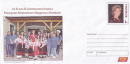 A8458- THE RETURN TO THE COUNTRY OF THE INHERITING PRINCESS MARGARETA , ROMANIAN COVER STATIONERY POSTAGE UNUSED - Entiers Postaux