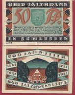 Allemagne 1 Notgeld  De 50 Pf Stadt  Ober -Salzbrunn (RARE Silésie-Pologne-Ladza) Dans L 'état   Lot N °250 - Colecciones