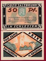 Allemagne 1 Notgeld  De 50 Pf Stadt  Ober -Salzbrunn (RARE- Silésie-Pologne-Ladza) Dans L 'état   Lot N °251 - Colecciones