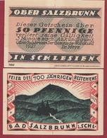 Allemagne 1 Notgeld  De 50 Pf Stadt  Ober -Salzbrunn (RARE- Silésie-Pologne-Ladza) Dans L 'état   Lot N °252 - Colecciones