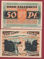 Allemagne 1 Notgeld  De 50 Pf Stadt  Ober -Salzbrunn (RARE- Silésie-Pologne-Ladza) Dans L 'état   Lot N °253 - Colecciones