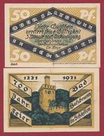 Allemagne 1 Notgeld  De 50 Pf Stadt  Ober -Salzbrunn (RARE- Silésie-Pologne-Ladza) Dans L 'état   Lot N °254 - Colecciones