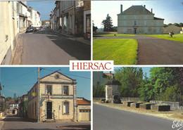 HIERSAC LA RUE PRINCIPALE LA MAIRIE LA POSTE ET LE GRAND PUITS TBE - Other Municipalities
