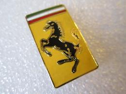 PIN'S    LOGO    FERRARI   28X16mm    Email Grand Feu - Ferrari