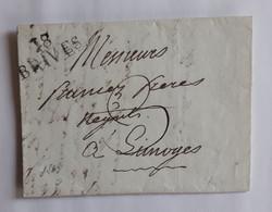 Corrèze 1813 - Marque Noire 18 BRIVES – FRANCEZ Frères Négociants à Limoges - 1801-1848: Précurseurs XIX