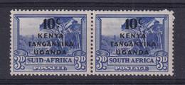 K.U.T.: 1941/42   South Africa Stamps OVPT   SG152   10c On 3d    MH - Kenya, Ouganda & Tanganyika