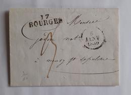 Cher 1830 - Marque Noire 17 BOURGES – GODIN Neuvy-Saint-Sépulchre – Bourges - 1801-1848: Précurseurs XIX