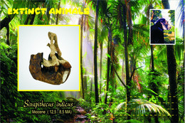 Vignettes De Fantaisie, Extinct Animals : Hominoidea (2), Sivapithecus Indicus - Fantasy Labels