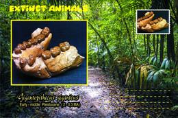 Vignettes De Fantaisie, Extinct Animals : Hominoidea (2), Gigantopithecus Giganteus - Fantasy Labels