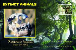 Vignettes De Fantaisie, Extinct Animals : Hominoidea (2), Rudapithecus Hungaricus - Fantasie Vignetten