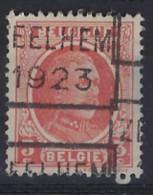 HOUYOUX Nr. 192 België Voorafstempeling Nr. 3172 C ZEELHEM 1923 ; Staat Zie Scan ! ZELDZAAM ! - Roller Precancels 1920-29