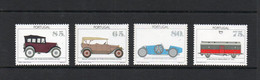 PORTUGAL -  1992 - AUTOMOBILE MUSEUM  SET OF 4 MINT NEVER HINGED - Unused Stamps